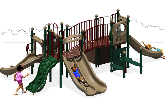 Payton's Place - Commercial Playground Equipment - Natural - Back