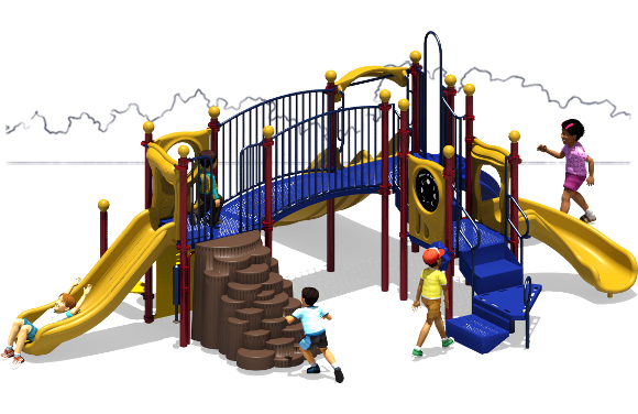 Payton's Place - Commercial Playground Equipment - Primary - Front