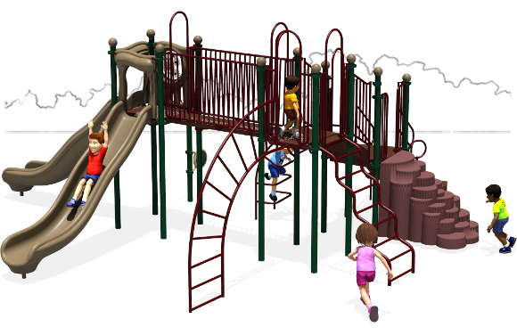 Autumn Breeze - Commercial Playground Equipment - Natural - Front