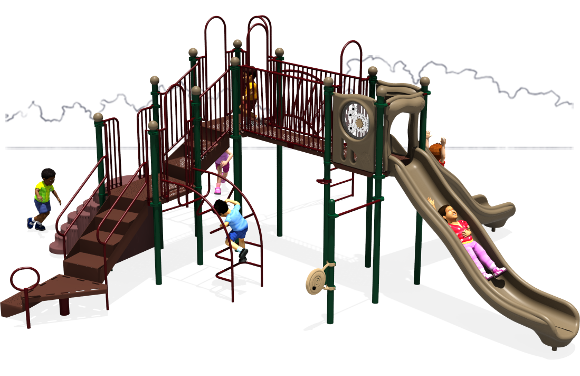 Autumn Breeze - Commercial Playground Equipment - Natural - Back