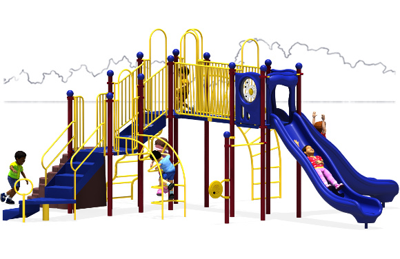 Autumn Breeze - Commercial Playground Equipment - Primary - Back