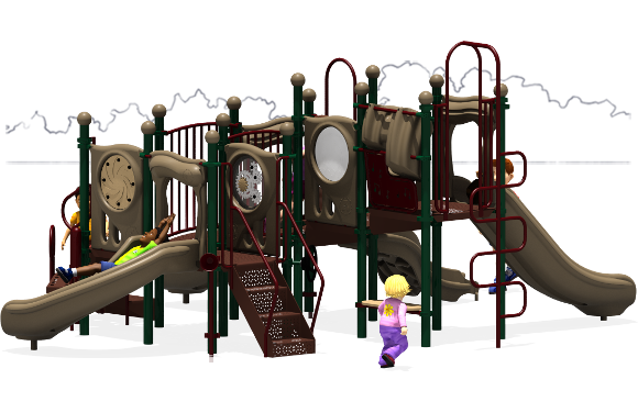 Grand Central - Commercial Playground Equipment - Natural - Back