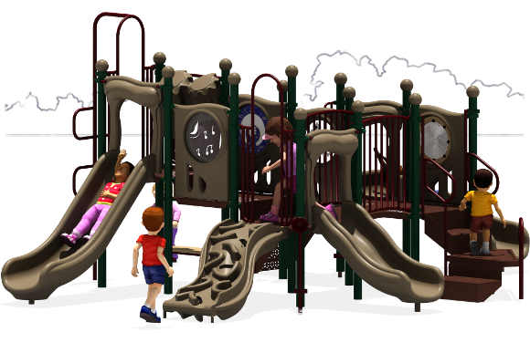 Grand Central - Commercial Playground Equipment - Natural - Front