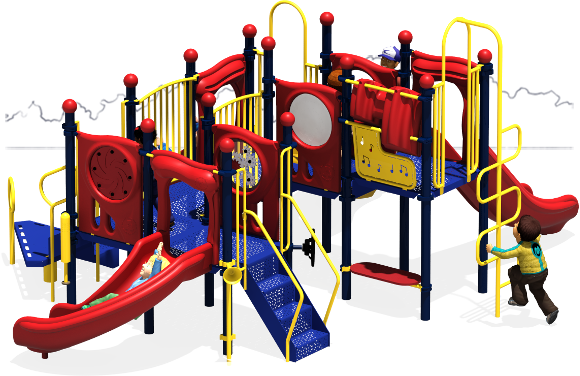 Grand Central - Commercial Playground Equipment - Primary - Back