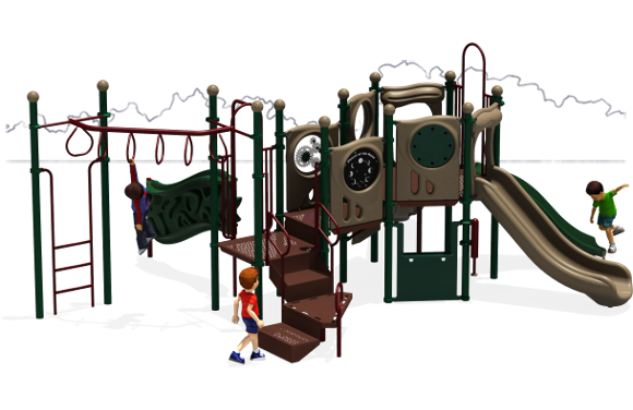 Connect Five - Commercial Playground Equipment - Natural - Back