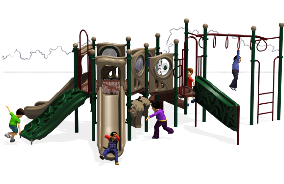 Connect Five - Commercial Playground Equipment - Natural - Front