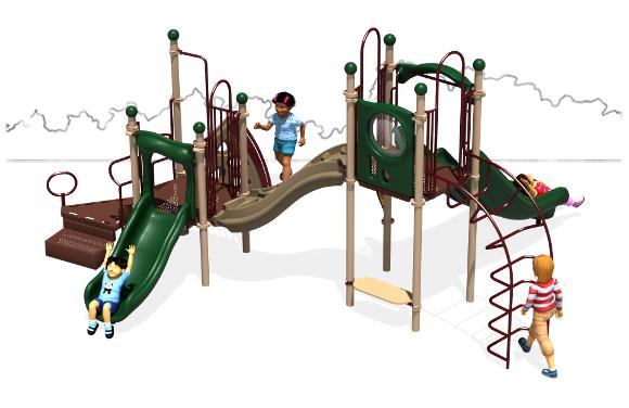 Space Bridge - Natural Color Scheme - Back View - Commercial Play Structure