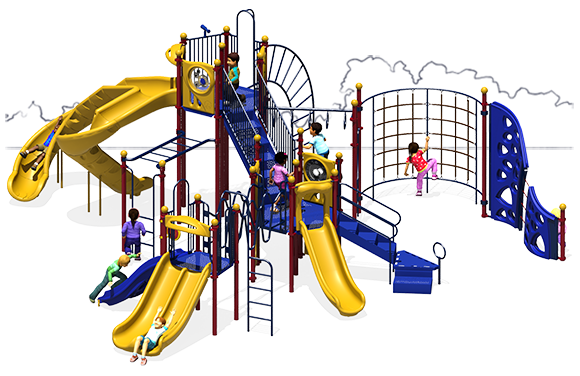 Goliath - Front View - Primary Color Scheme - Commercial Playground Equipment