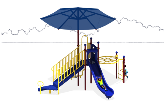 Sunny Days Commercial Play Structure - American Parks Company - Front