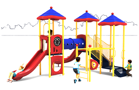 Class Act - School Playground Equipment - Primary Color Scheme - Front View