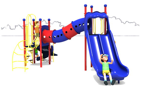 Dandy Dragon - Front View - Primary Colors - Commercial Playground Equipment