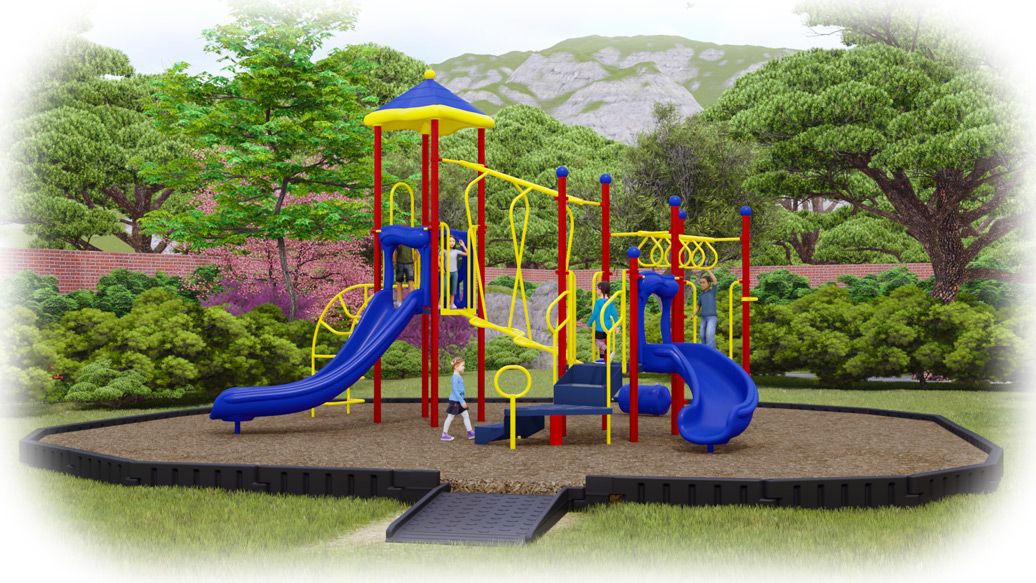 Amazing Adventure Playground Bundle - Engineered Wood Fiber - Primary Colors