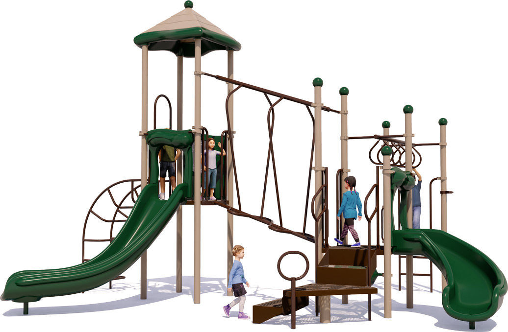 Amazing Adventure Play Structure - Natural Colors - Back View