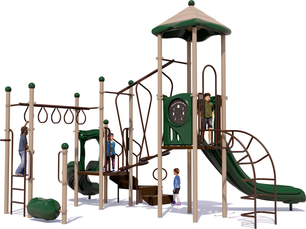 Amazing Adventure Play Structure - Natural Colors - Front View