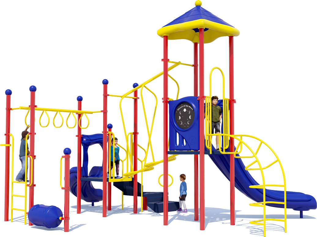 Amazing Adventure Play Structure - Primary Colors - Front View
