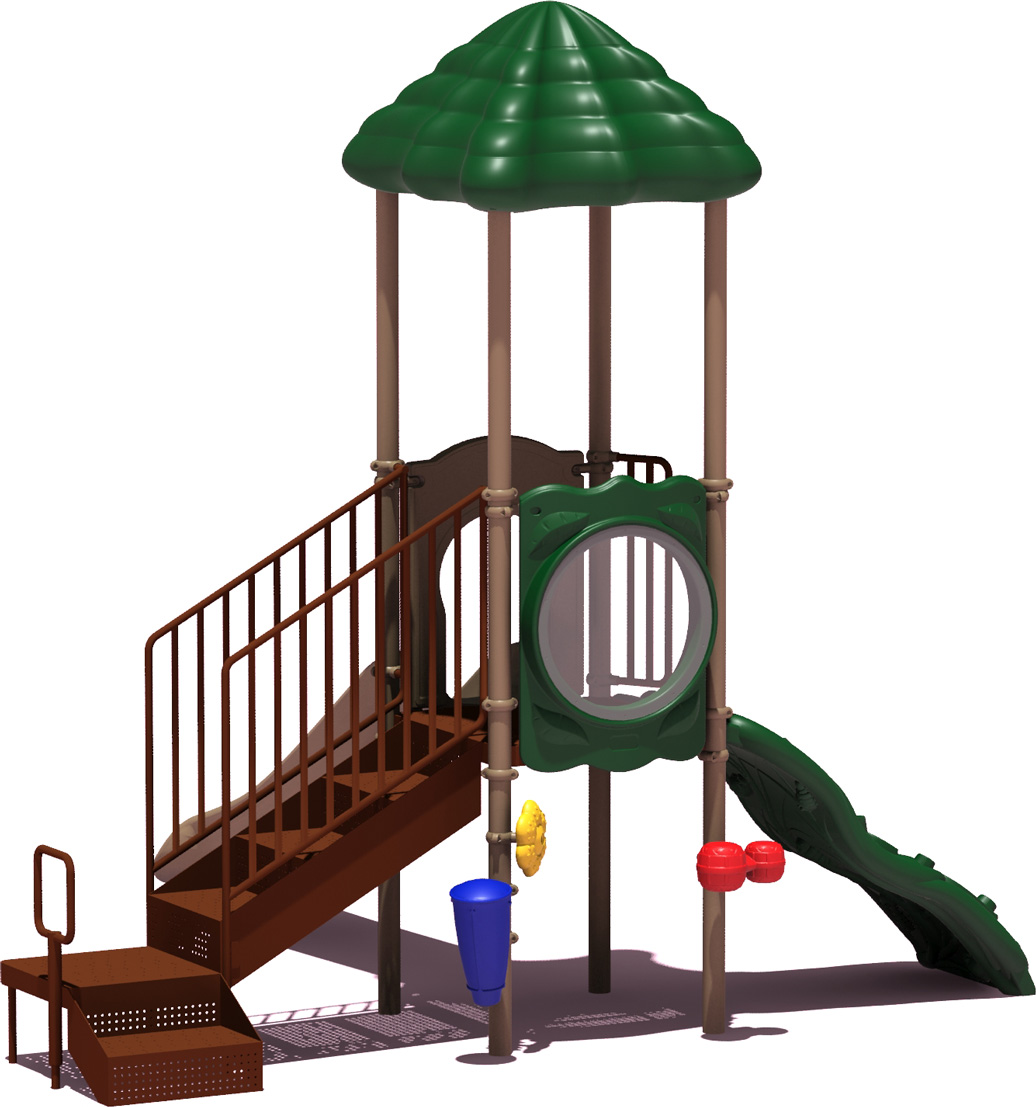 Winning Run - Natural Color Scheme - back View - Commercial Playground Equipment