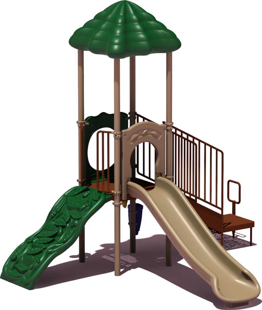 Winning Run - Natural Color Scheme - Front View - Commercial Playground Equipment