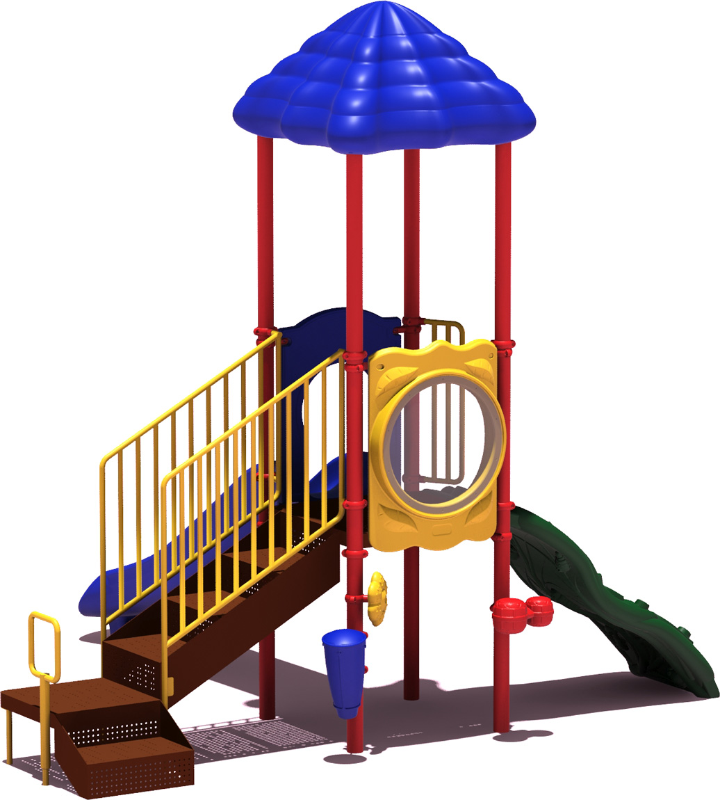 Winning Run - primary Color Scheme - back View - Commercial Playground Equipment