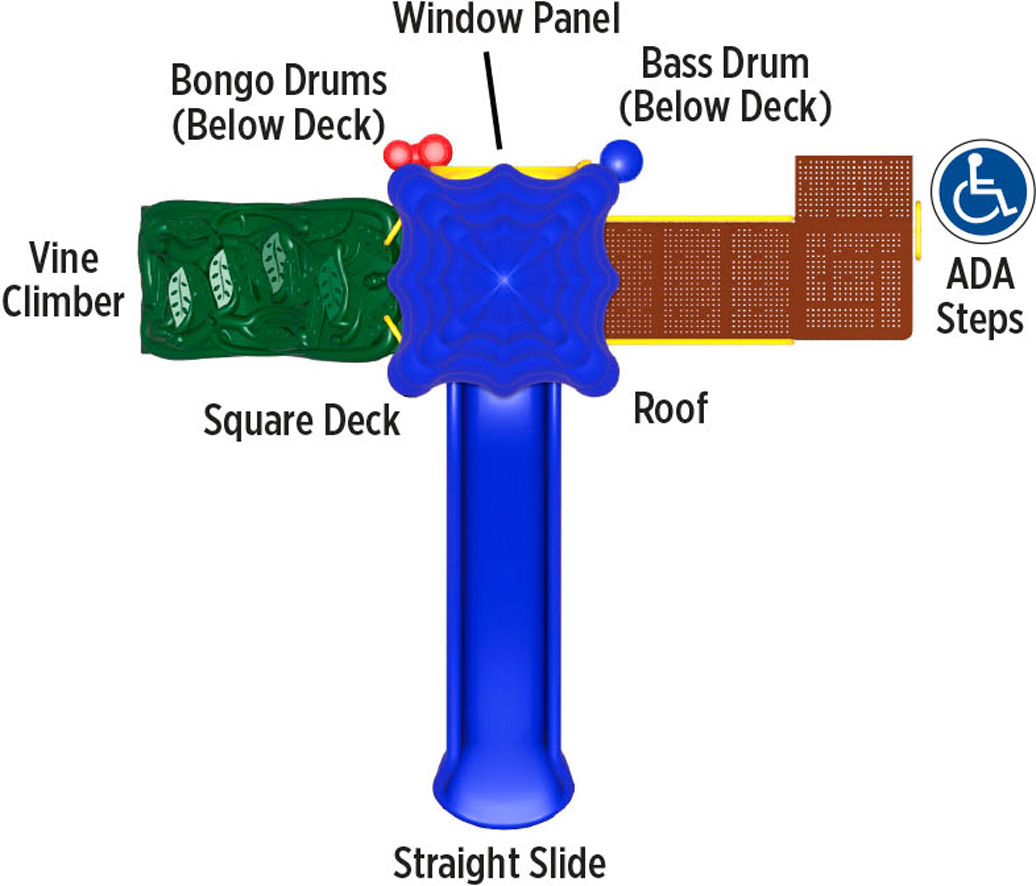 Winning Run - primary Color Scheme - top View - Commercial Playground Equipment