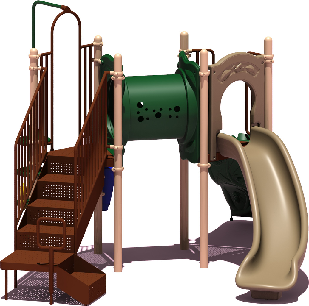 First Place - Natural Color Scheme - back View - Commercial Playground Equipment
