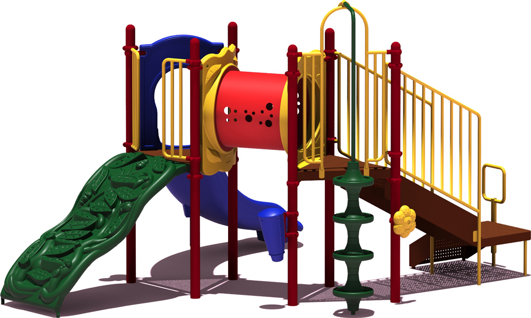 First Place - Primary Color Scheme - Front View - Commercial Playground Equipment