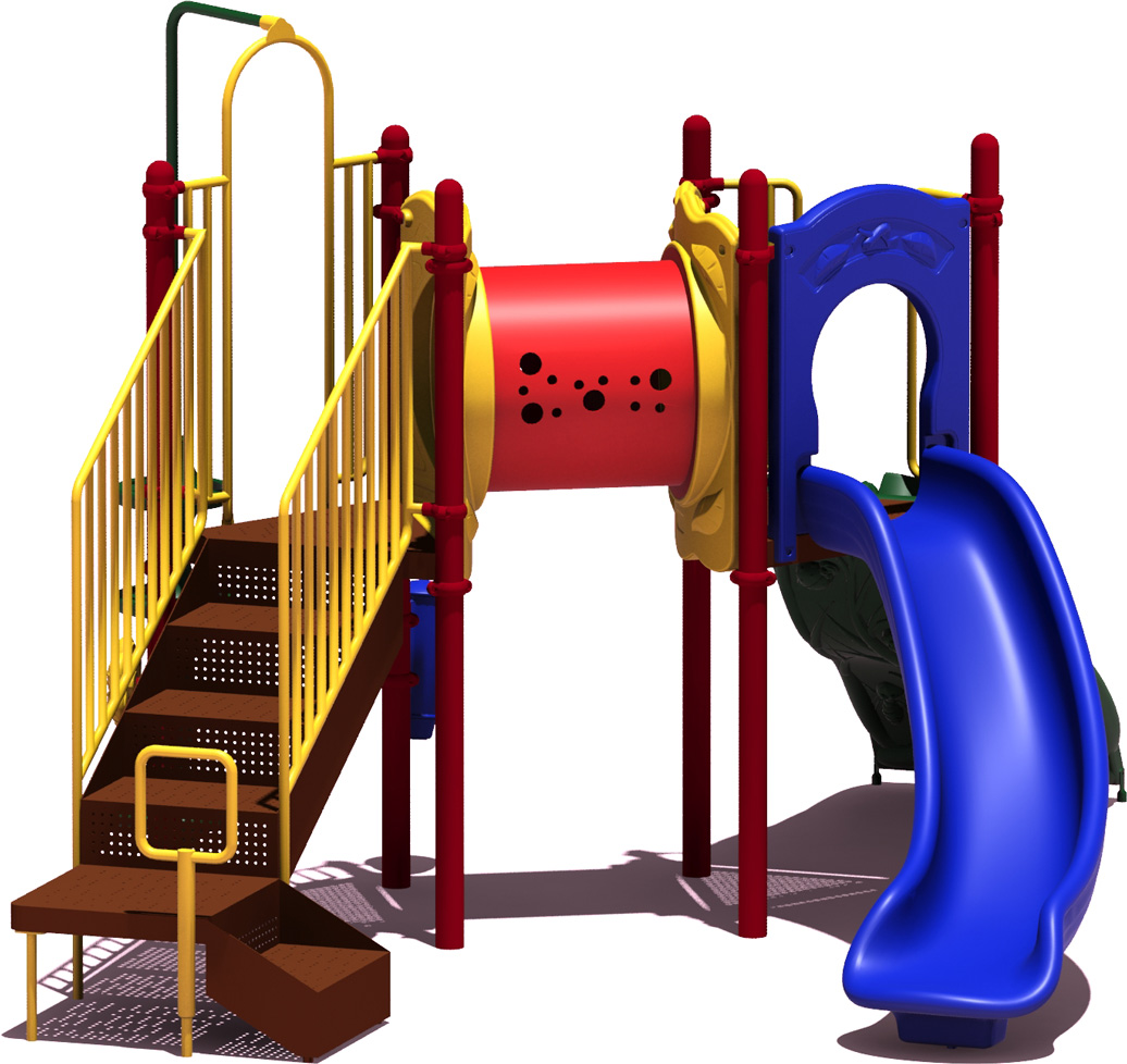 First Place - Primary Color Scheme - Back View - Commercial Playground Equipment