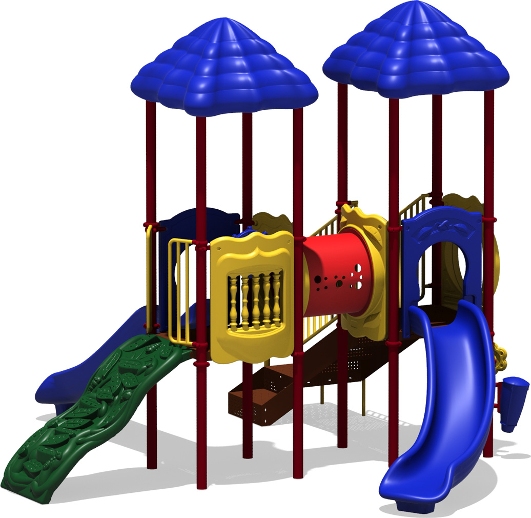 Double Play - Primary Color Scheme - Front View - Commercial Play Structure