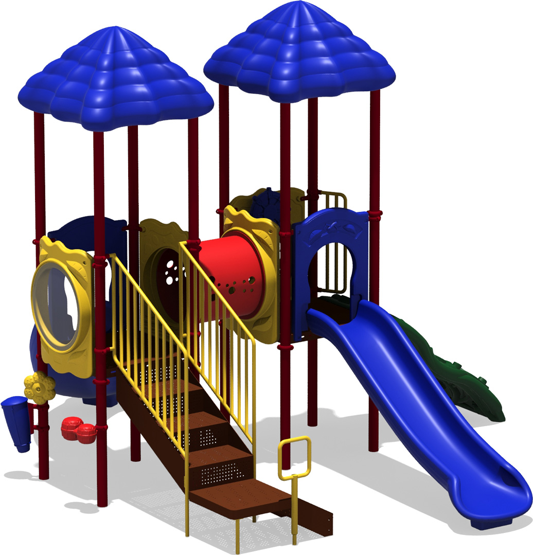 Double Play - Primary Color Scheme - Back View - Commercial Play Structure