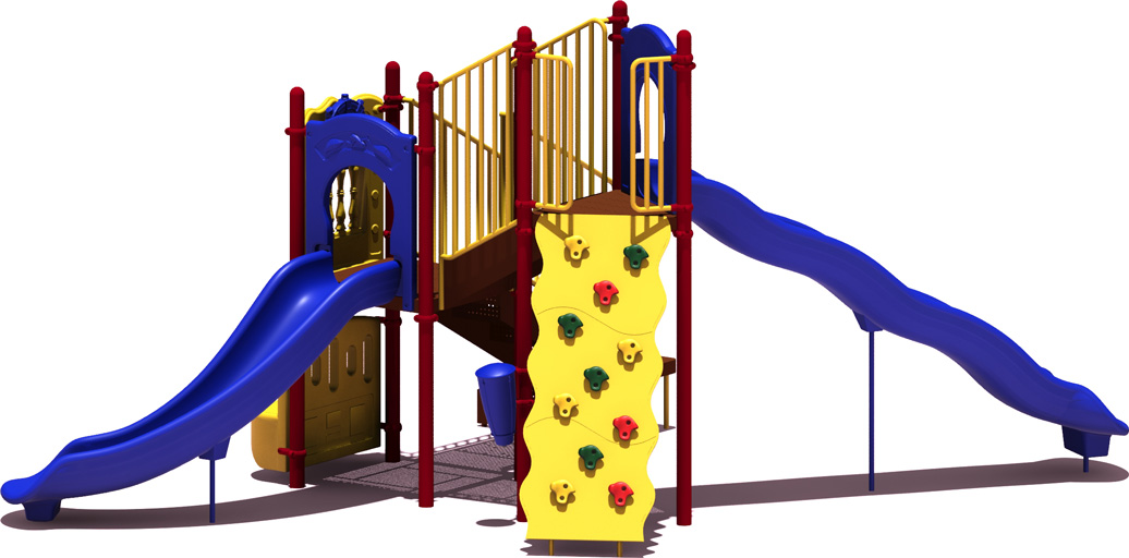 All-Star Budget Playground Equipment - primary Color Scheme - Front View