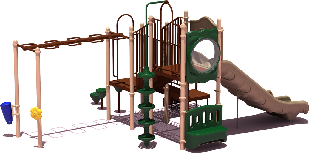 Good Catch - natural Color Scheme - back View - Commercial Playground Equipment