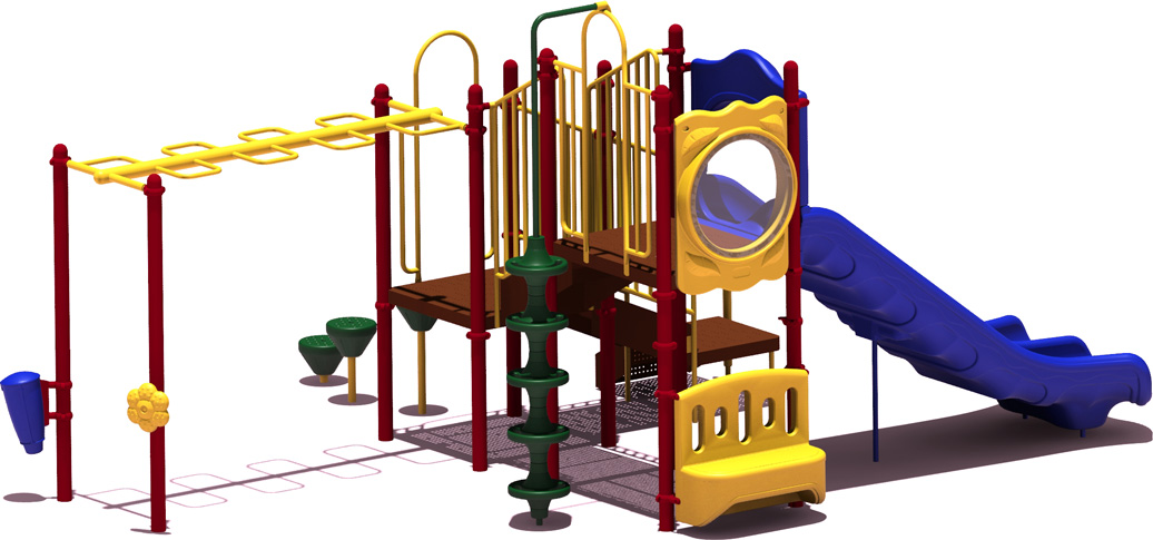 Good Catch - Primary Color Scheme - back View - Commercial Playground Equipment