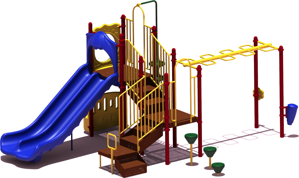 Good Catch - Primary Color Scheme - Front View - Commercial Playground Equipment
