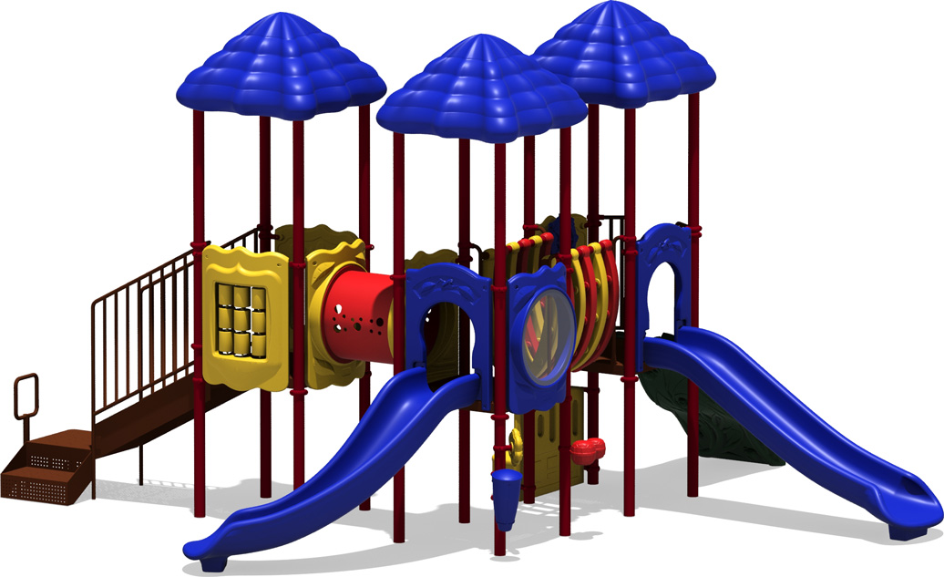 Scoreboard - Primary Color Scheme - Front View - Commercial Playground Equipment