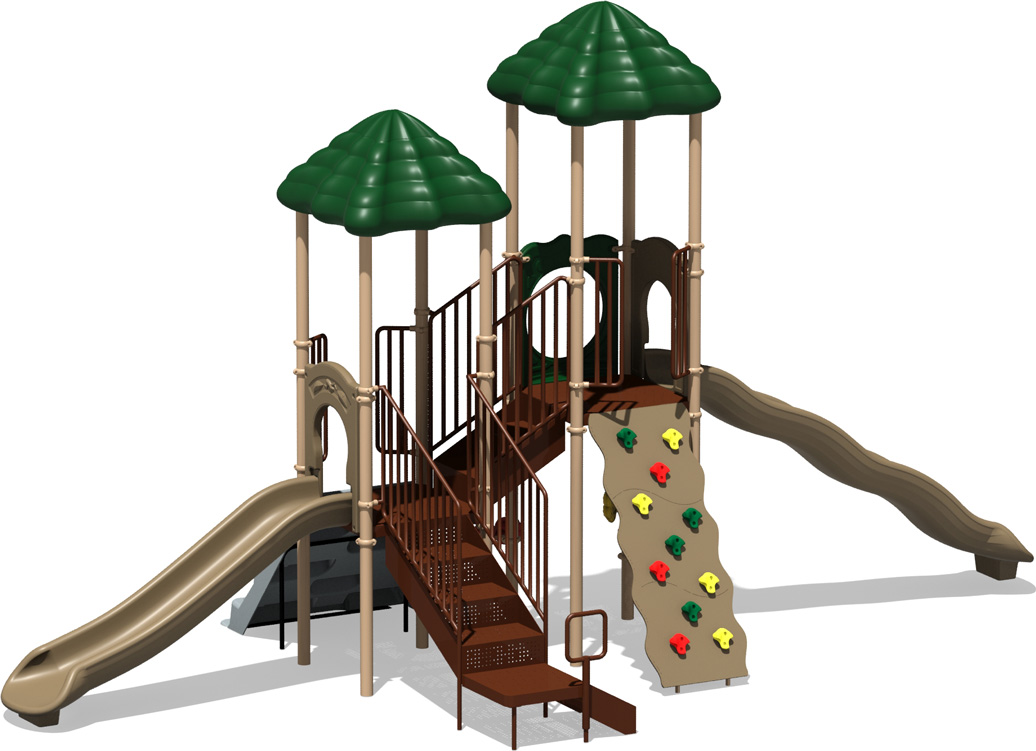 Hall of Fame - commercial playground structure - natural - front