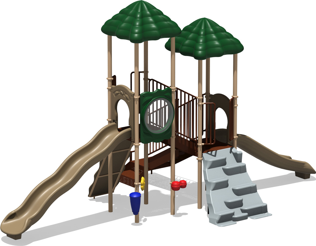 Hall of Fame - commercial playground structure - natural - back