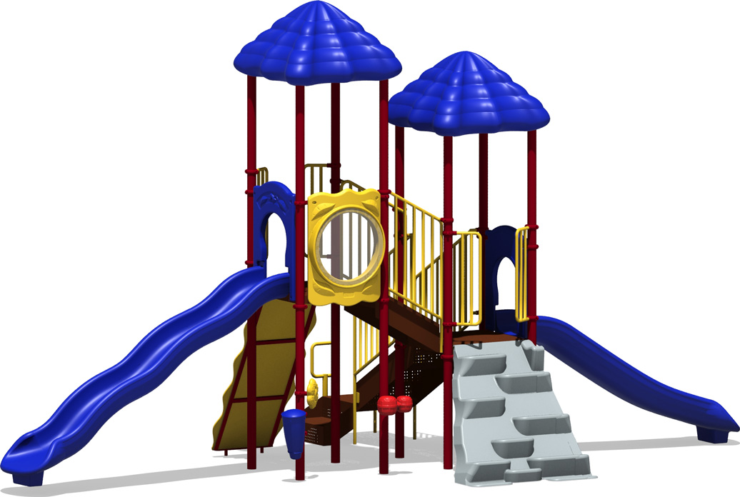 Hall of Fame - commercial playground structure - primary - back