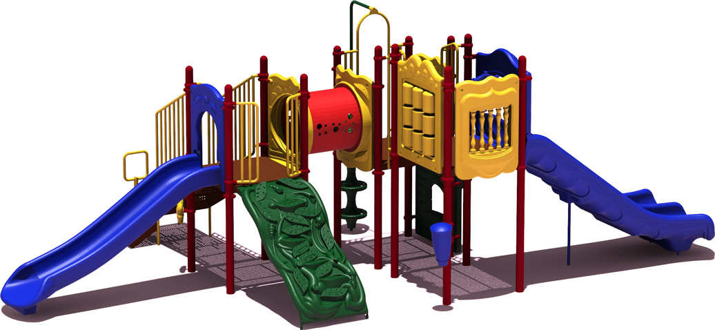 Home Plate Budget Play Structure - primary Color Scheme - Front View