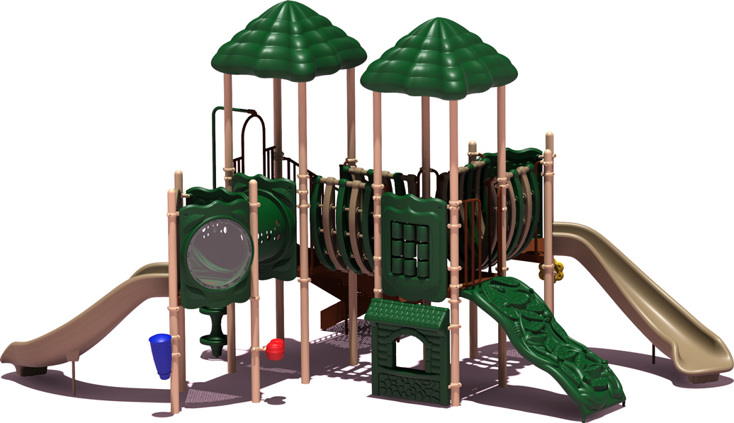 Curve Ball - natural Color Scheme - Front View - Commercial Playground Equipment