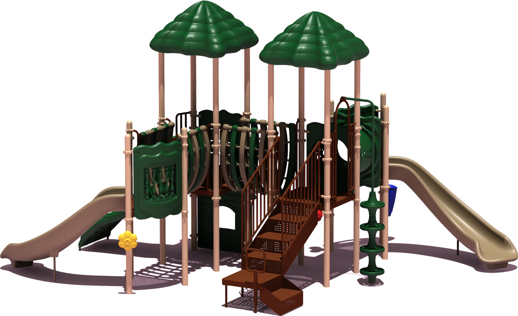 Curve Ball - natural Color Scheme - back View - Commercial Playground Equipment