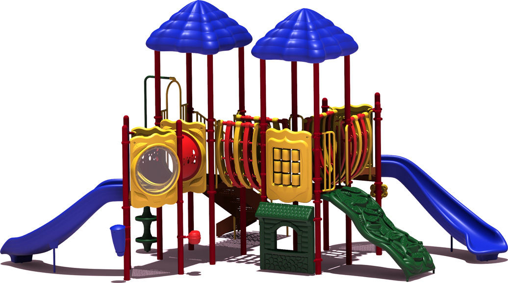 Curve Ball - Primary Color Scheme - Front View - Commercial Playground Equipment