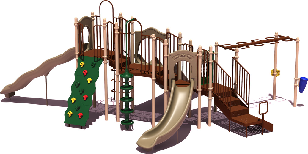 Line Drive - Budget Play Structure - Natural Colors - back