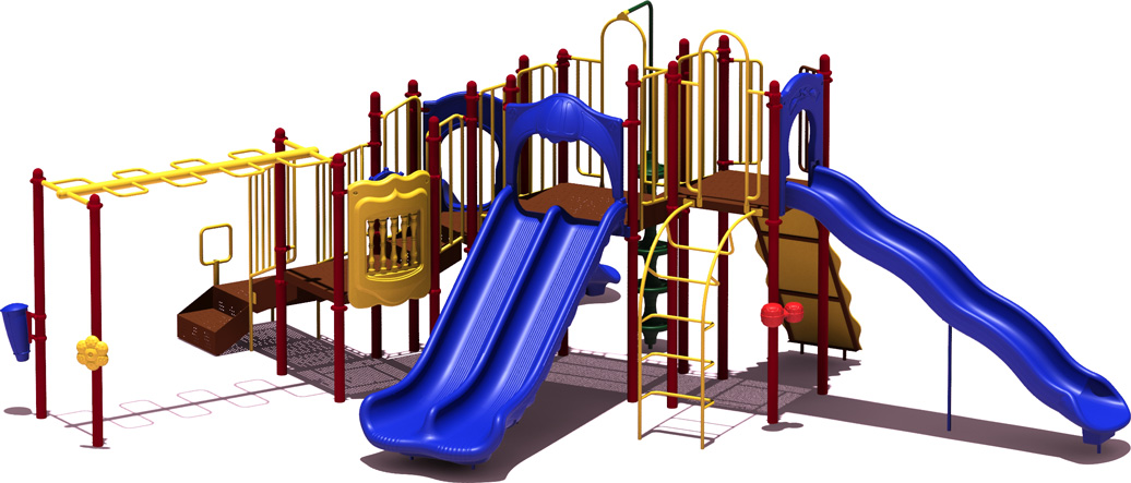 Line Drive - Budget Play Structure - primary Colors - Front