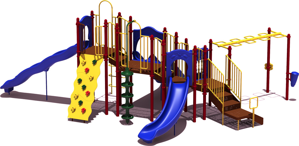 Line Drive - Budget Play Structure - primary Colors - back
