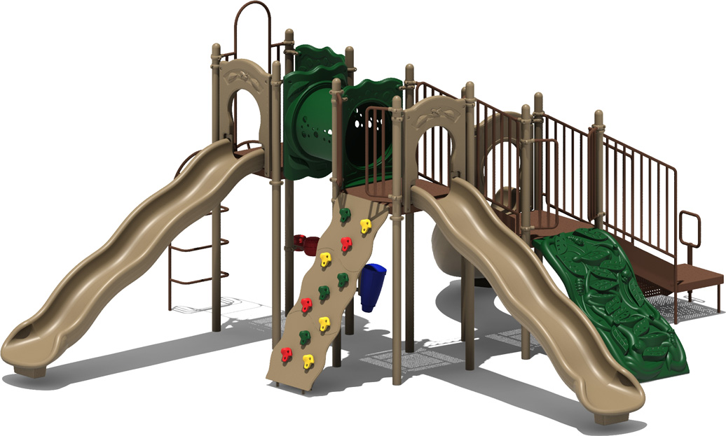 Coconut Garden - Natural Color Scheme - Front View - Commercial Playground Equipment
