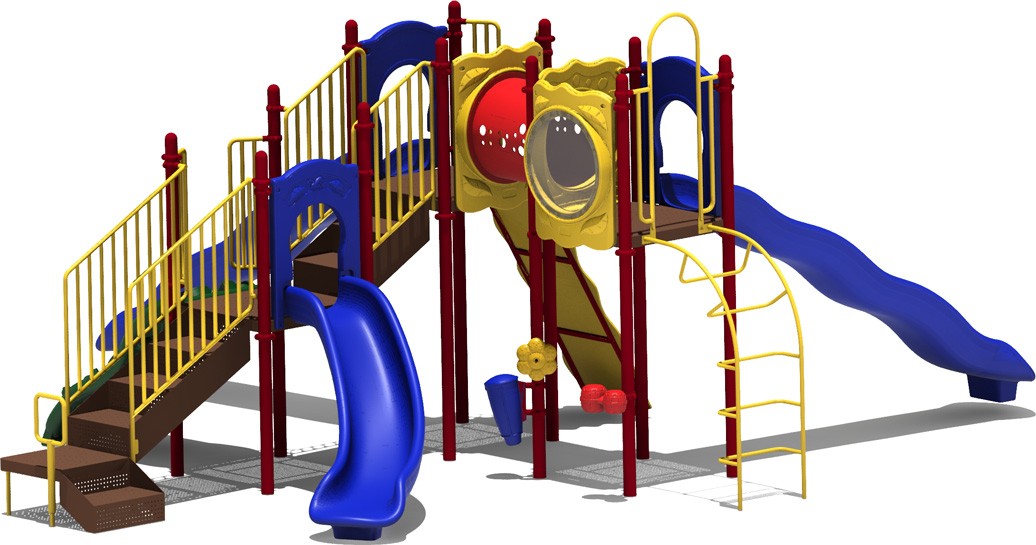 Coconut Garden - primary Color Scheme - back View - Commercial Playground Equipment