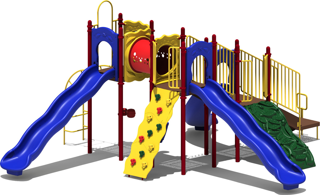 Coconut Garden - primary Color Scheme - Front View - Commercial Playground Equipment