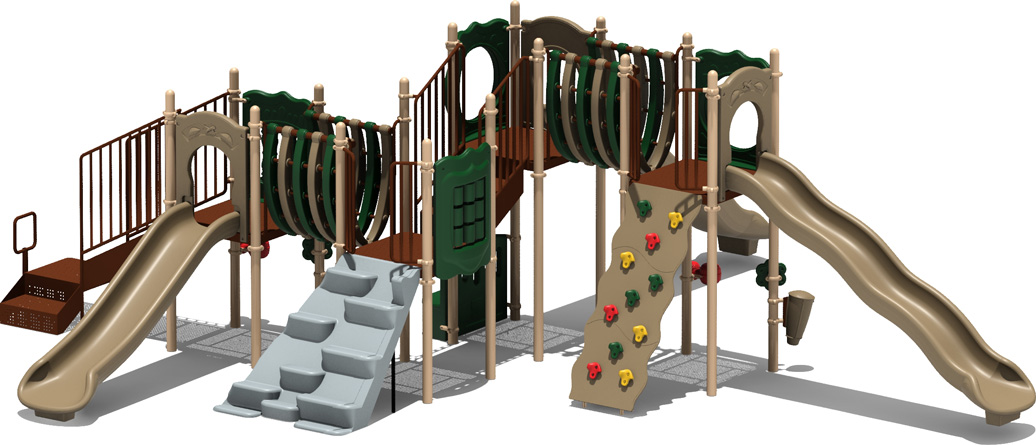 MVP Budget Play Structure - natural Color Scheme - Front View