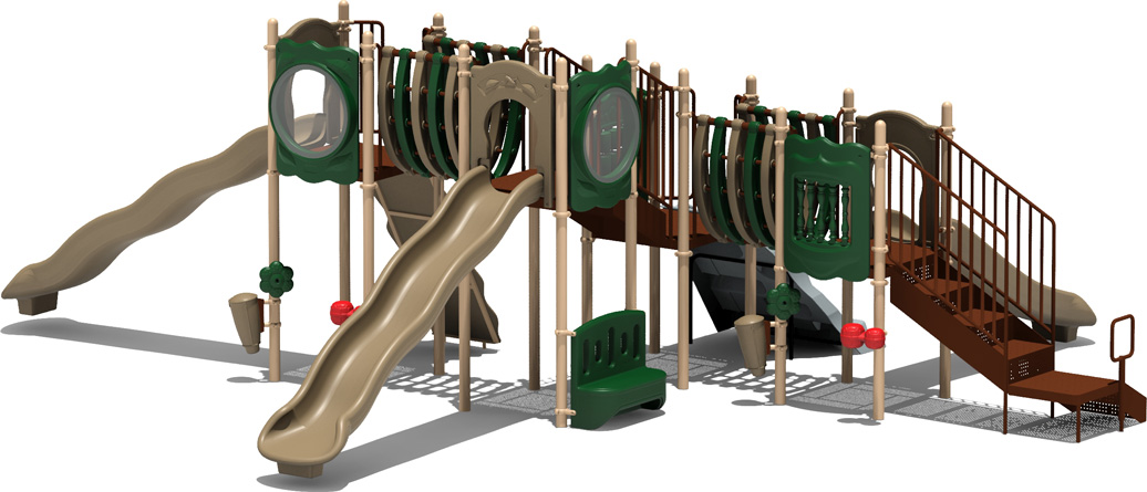 MVP Budget Play Structure - natural Color Scheme - back View