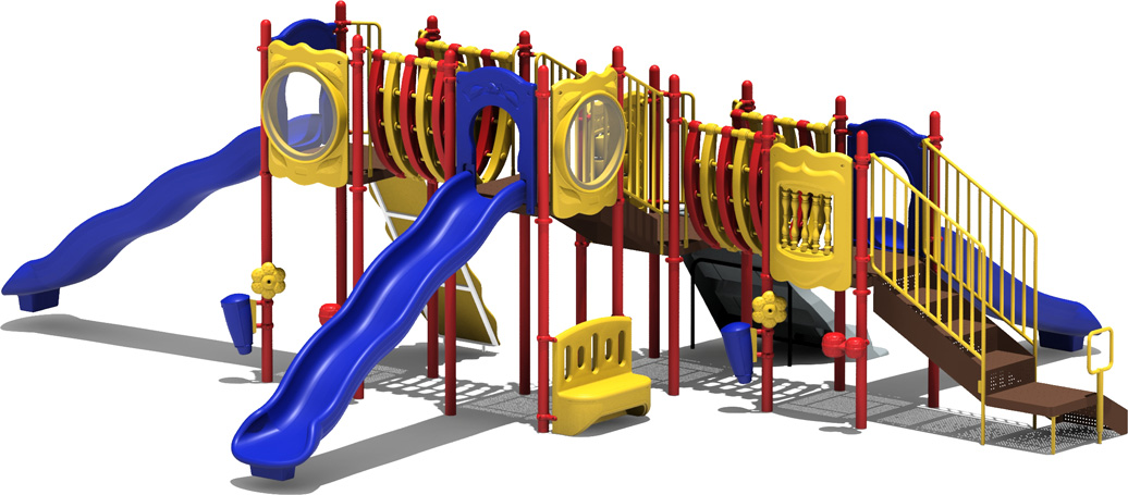 MVP Budget Play Structure - Primary Color Scheme - back View