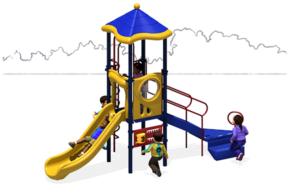 Straight Shot - Playground Equipment - Primary - Front